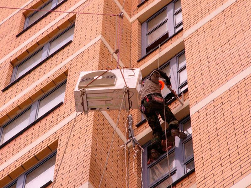 Кто отвечает за поврежденный фасад при установке кондиционера на стене?